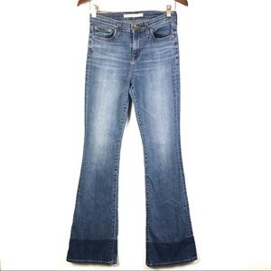 Big Star Bella High Rise Two Tone Flare Jeans